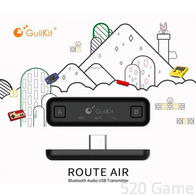 NS ROUTE Air 藍牙耳機適配器 | GULIKIT ROUTE + FOR NINTENDO SWITCH Misc-0827 (Pro Misc-0856)
