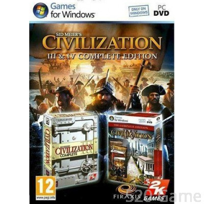 PC Civilization III & IV Complete Edition《文明帝國3+4合輯》英文